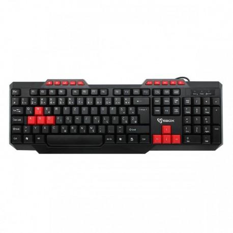 Ενσύρματο πληκτρολόγιο SBOX K-15 Pro USB Keyboard Black/Red