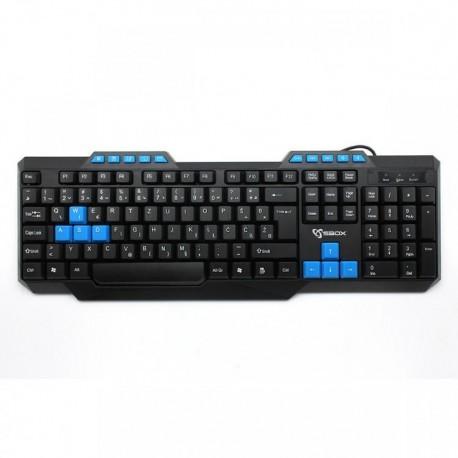 Ενσύρματο πληκτρολόγιο SBOX K-15 Pro USB Keyboard Black/Blue