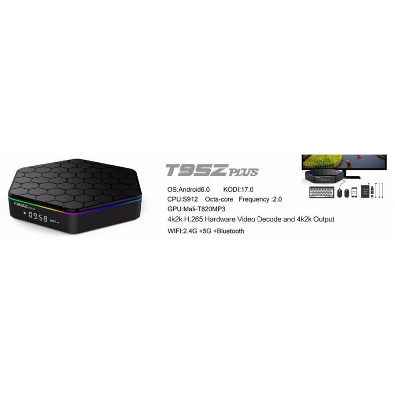 Android TX Box - T95z Plus Amlogic S912 Octa-core 2G RAM 16G