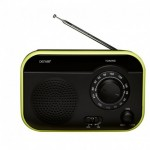 Denver TR-55C black/green FM radio