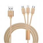 Καλώδιο USB - microUSB - mobile cable Χρυσό