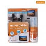 Brateck - Καλώδιο HDMI 3m και ειδικό καθαριστικό σπρέυ για TV, Οθόνες και tablet