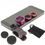 Φωτογραφικοί φακοί UCL31 3 σε 1 με κλιπ για κινητά,  iPhone, Samsung smartphone, iPad, Tablets, Laptops