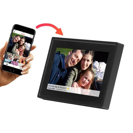 "Denver PFF-711 Black -  Ψηφιακή κορνίζα 7"" Smart Social Media WiFi FRAMEO photo frame"