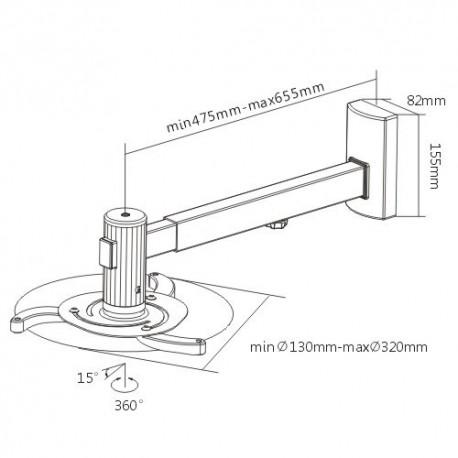 Brateck PRB-5 Βάση στήριξης τοίχου Ultra Short Throw