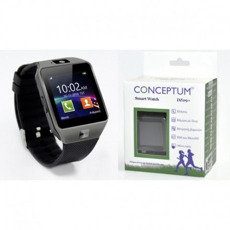 CONCEPTUM Smartwatch DZ09+ - FULL GREEK LANGUAGE SUPPORT