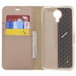 Accezz Booklet Wallet Gold General Mobile GM5