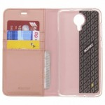 Accezz Booklet Wallet Rose Gold General Mobile GM5