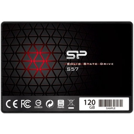 SILICON POWER S57 SSD - SATAIII (TLC - SLC CACHE)  120GB  550-420 MB/s