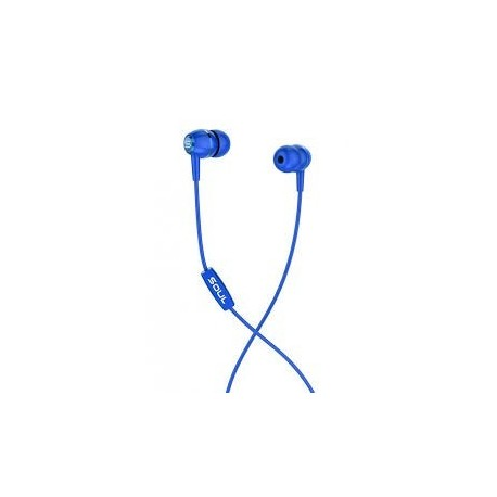 Soul LIT Blue high performance wired earphones