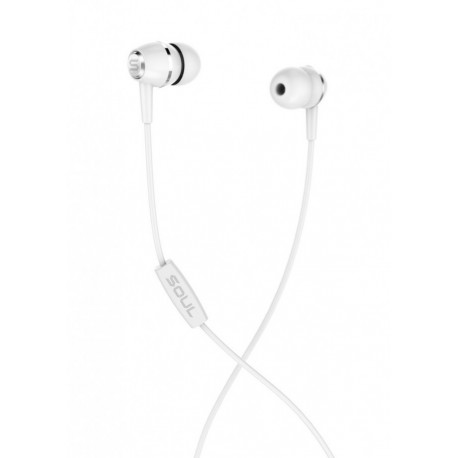 Soul LIT White high performance wired earphones