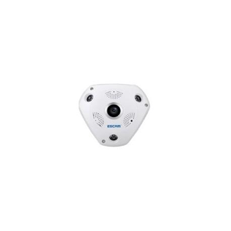 Escam IP camera - QP180 PANORAMIC 360 - Πανοραμική εικόνα 360 μοιρών - συνδεση με WiFi 1.3MP - InfraRed