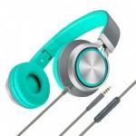 Promate Spectrum Ενσύρματα Αναδιπλούμενα Ακουστικά Κεφαλής Ανοικτού Τύπου με Ενσωματωμένο Μικρόφωνο - Πράσινα