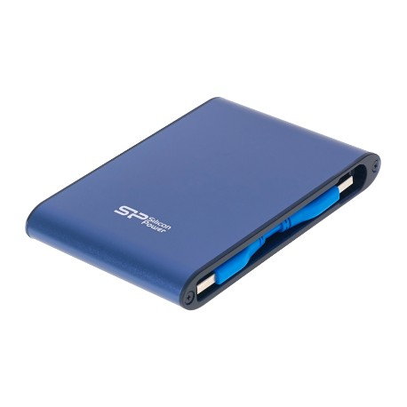 Silicon Power Portable Hard Disk, 1TB, PHD, Armor A80, Blue (SP010TBPHDA80S3B)