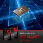 "256GB SSD 2.5"" SATA III 6Gb/s  (R:510 , W :400) 3D NAND FLASH ( ad256GBS20S3S )"