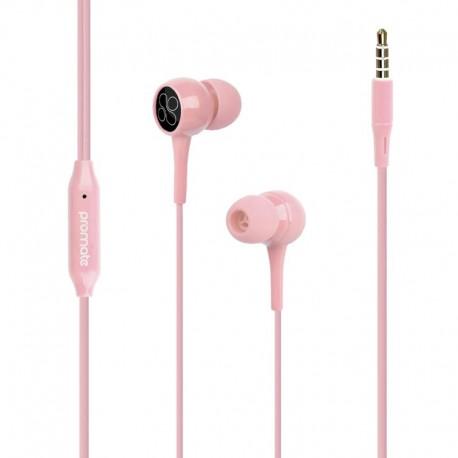 Promate Bent.Pink Εργονομικά & Ανθεκτικά Aκουστικά Ψείρες με Ενσωματωμένο Μικρόφωνο – Ροζ
