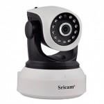 Sricam SP017WH - IP Camera / Ενδοεπικοινωνία - Ανάλυση 720p - ONVIF - WIFI - Νυχτερινή όραση/λήψη - microSD  + Δώρο καλώδιο LAN
