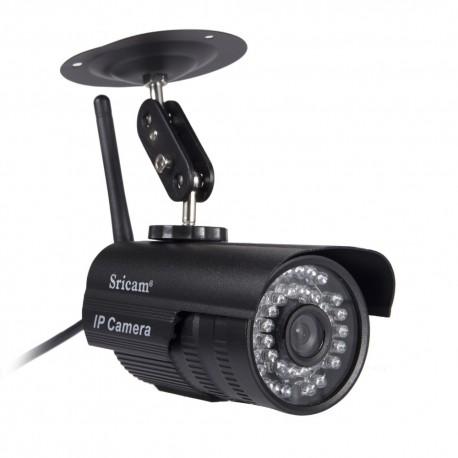 Sricam IP Camera SP013 - Εξωτερική Κάμερα Παρακολούθησης - 720p HD - WIFI - Πολλαπλοί χρήστες - ΜΑΥΡΟ