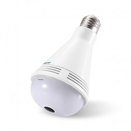 QP137 - 2mp - 1080P WiFi IP Camera 360 ° Πανοραμική λάμπα ESCAM Led Lamp με BLUETOOTH